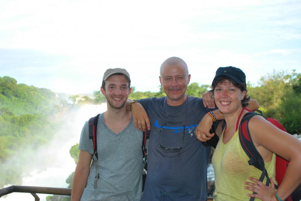 Benjamin, Fabrice et Lucie, une joyeuse bande à Iguazu