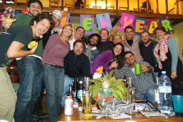 Nouvel An à l'auberge de jeunesse à Ushuaïa