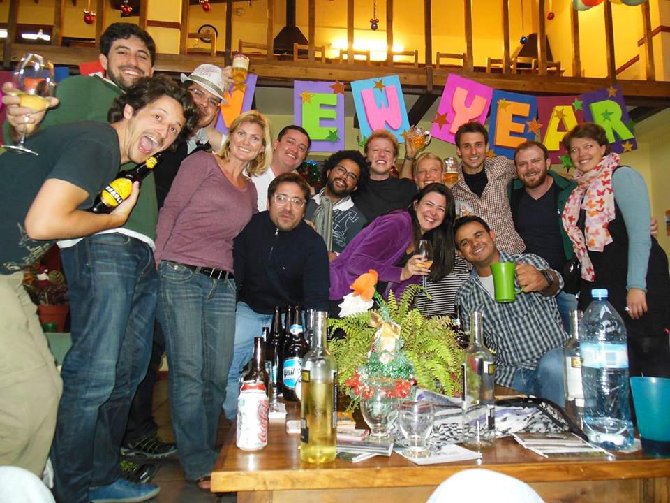 Bonne année 2014 dans une super auberge à Ushuaïa, Antartica Hostel