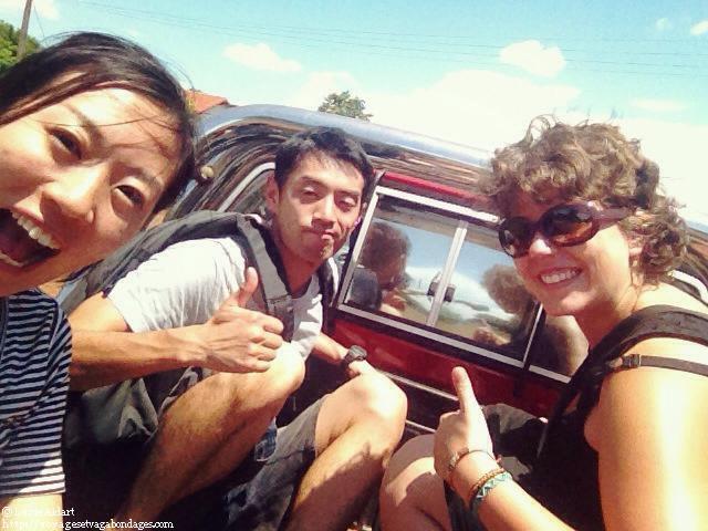 Dans un pick-up au Paraguay