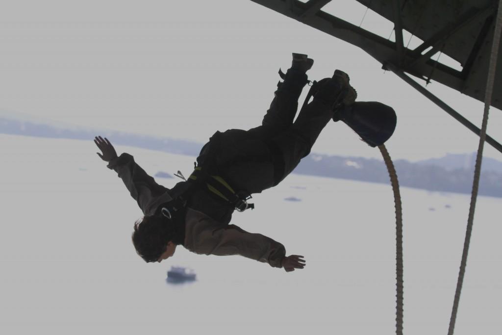 Le saut!