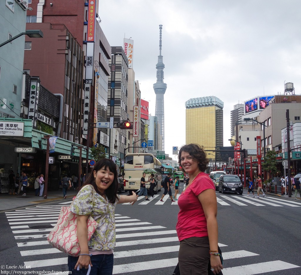 Touristes à Tokyo avec Majuko