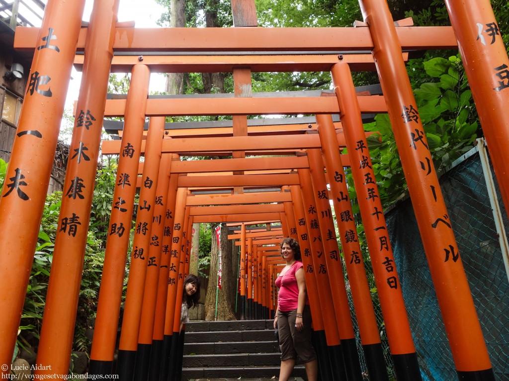 Dans le parc Ueno avec Majuko