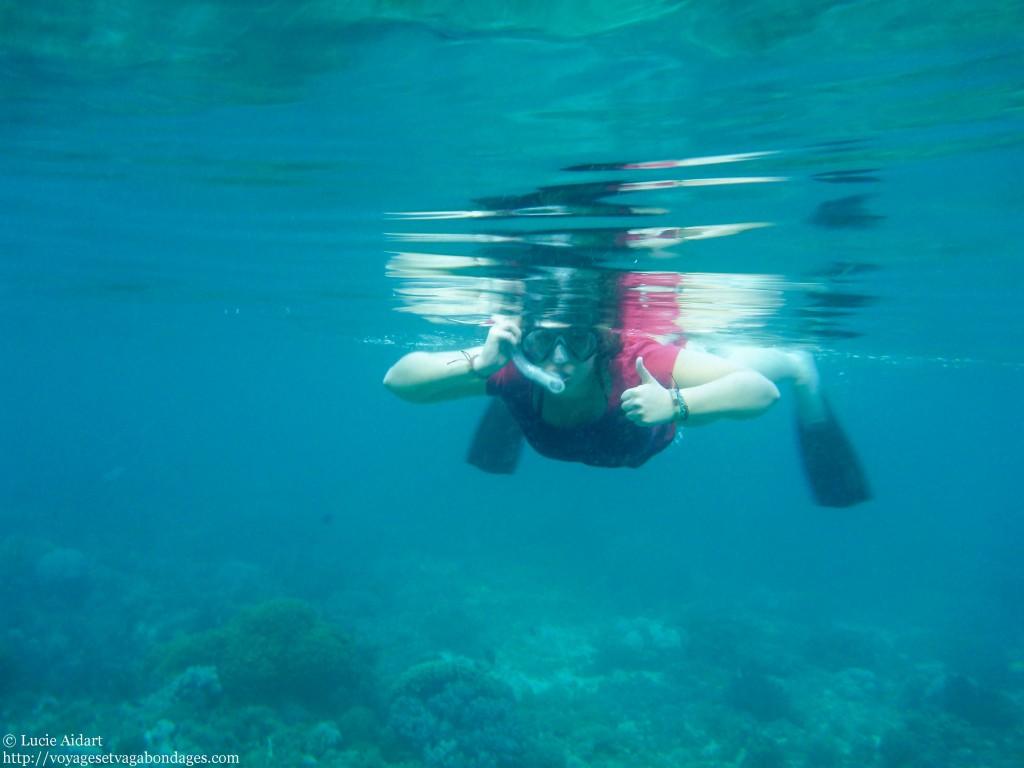 Juillet 2013 - Premiere experience de Snorkelling en Indonesie