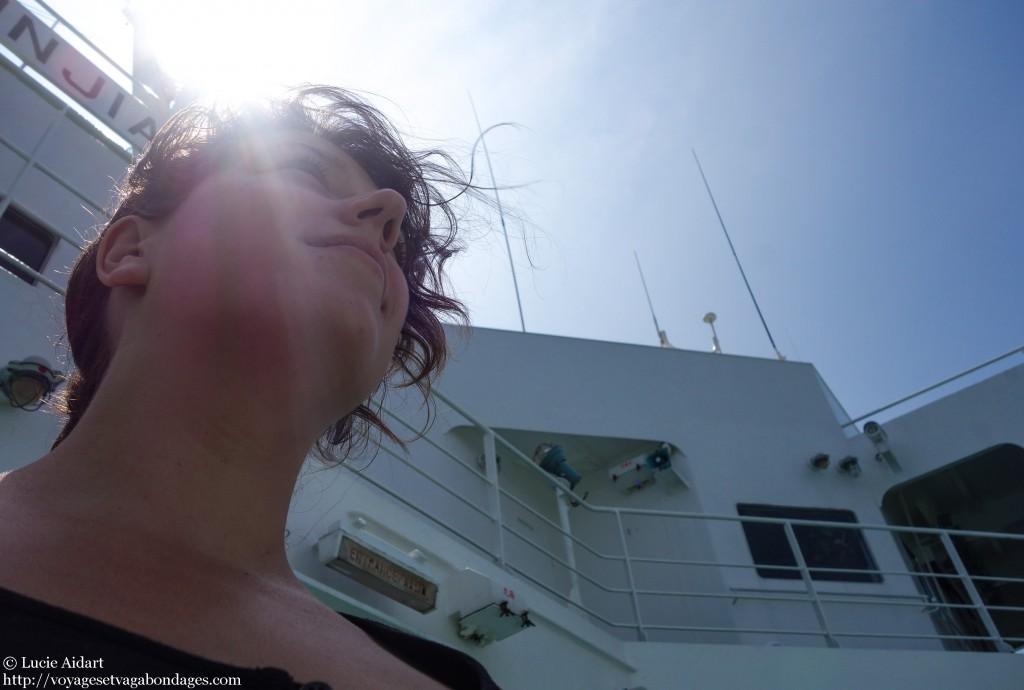 Septembre 2013 - Sur le ferry du Japon a la Chine