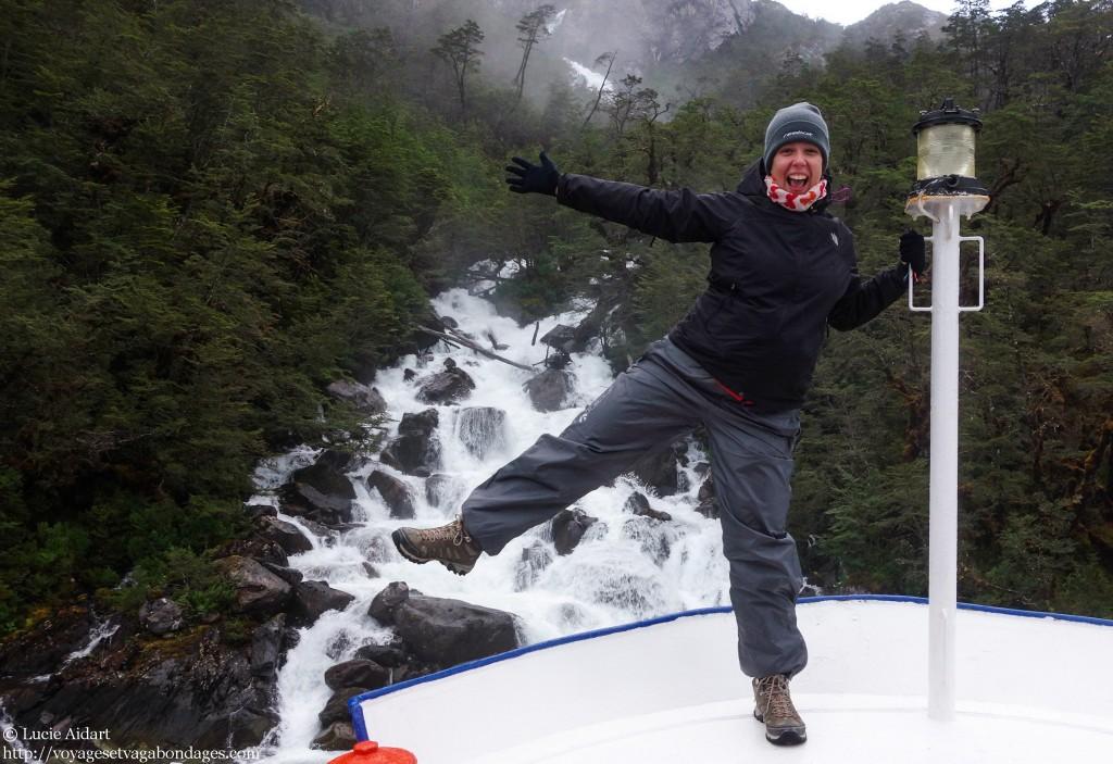 Janvier 2013 - Je fais la folle lors d'une croisière au Chili