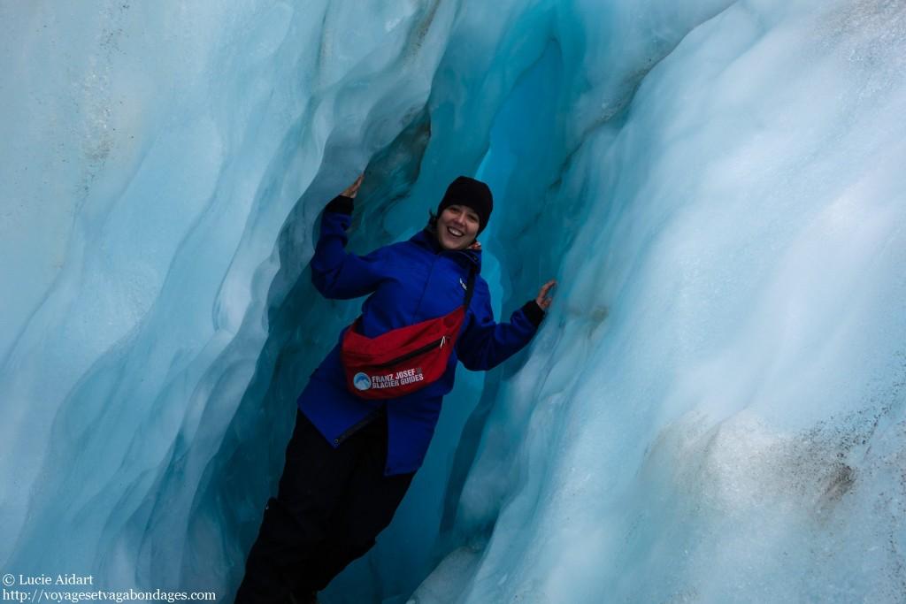Avril 2013 - Je fais de la marche sur glacier en Nouvelle-Zelande