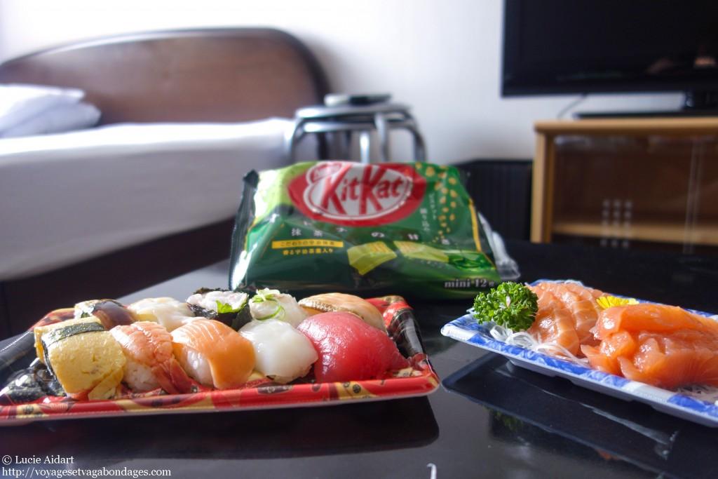 Repas sushi kit-kat macha