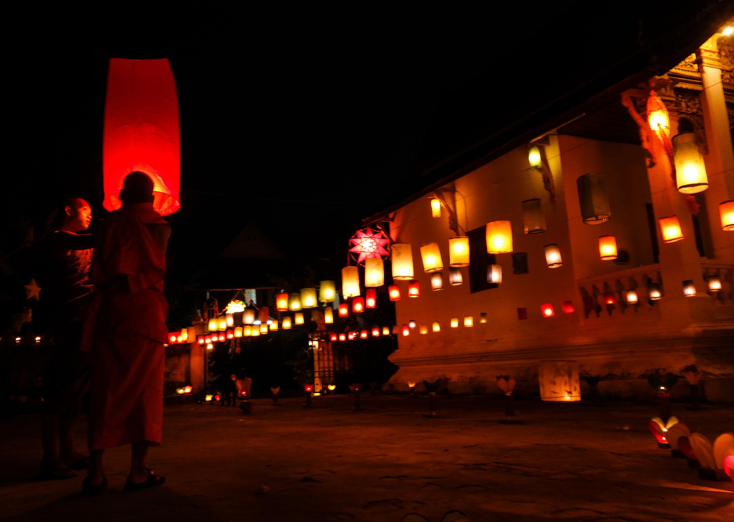 Festival des lumières au Laos