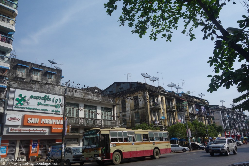 Bus à Yangon