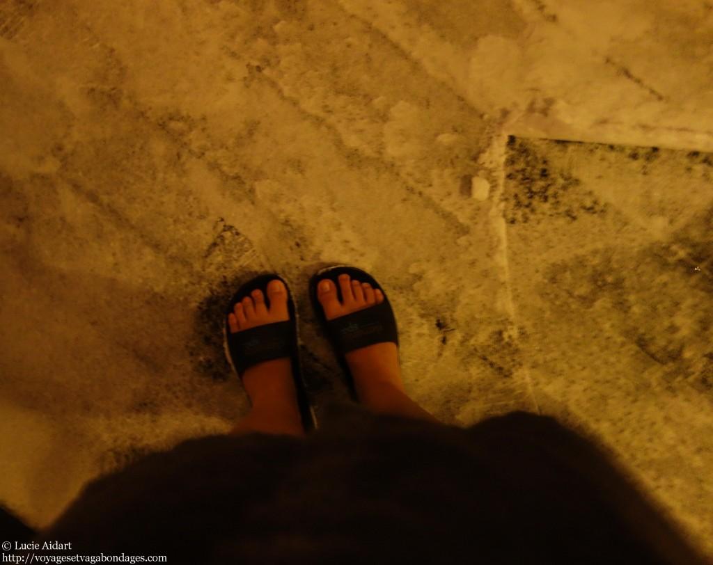 Au spa du Clarion, les pieds dans la neige