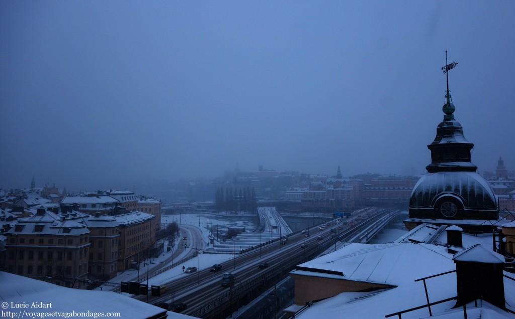 Stockholm sous la neige