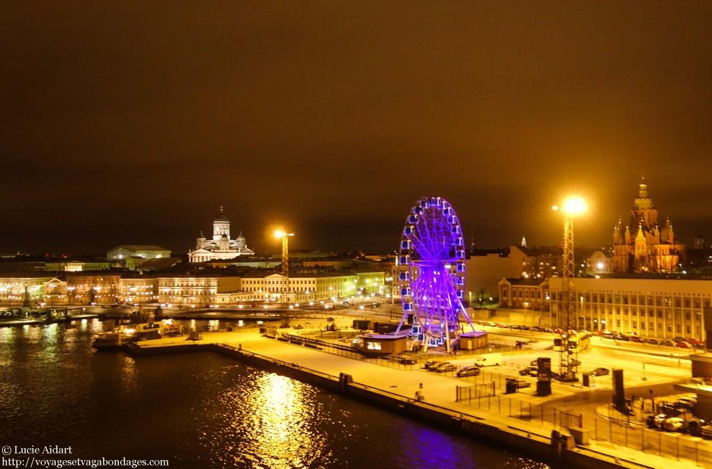 Départ de nuit d'Helsinki