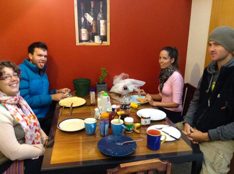 Petit-déjeuner à l'auberge, Wanaka