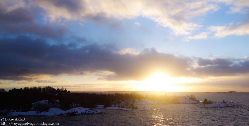 lever de soleil sur Helsinki, voyage à Helsinki, Helsinki en coup de vent