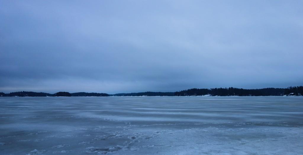 Lac gelé, motoneige finlande