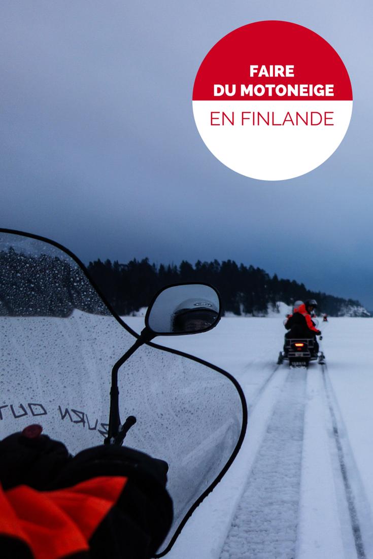 Faire du motoneige en Finlande, une aventure hivernale