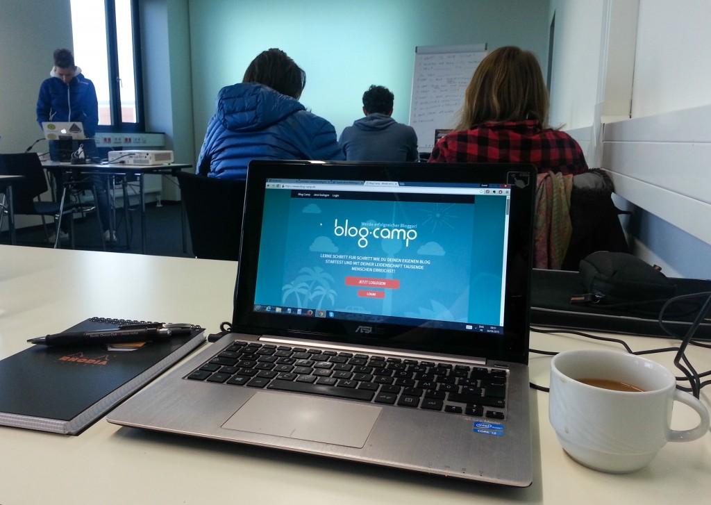 Atelier blogging à Berlin, blogcamp