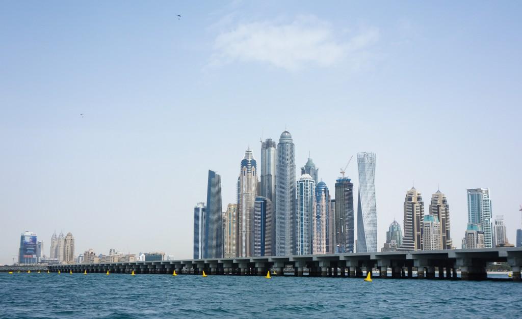Vue sur la Skyline de Dubaï, escale à Dubaï