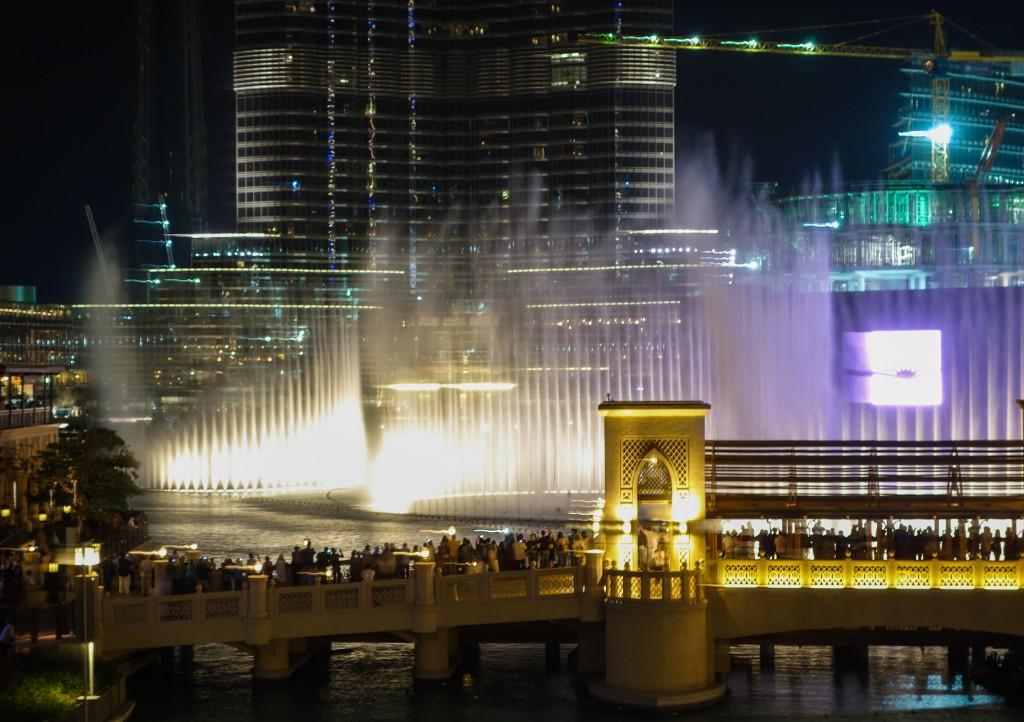 Spectacle des fontaines, escale à Dubaï