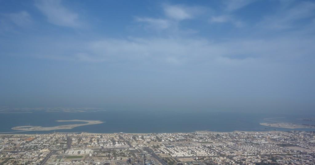 Vue depuis le Burj Khalifa, escale à Dubaï