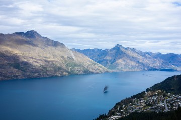 Que faire à Queenstown, vue sur la péninsule de Queenstown