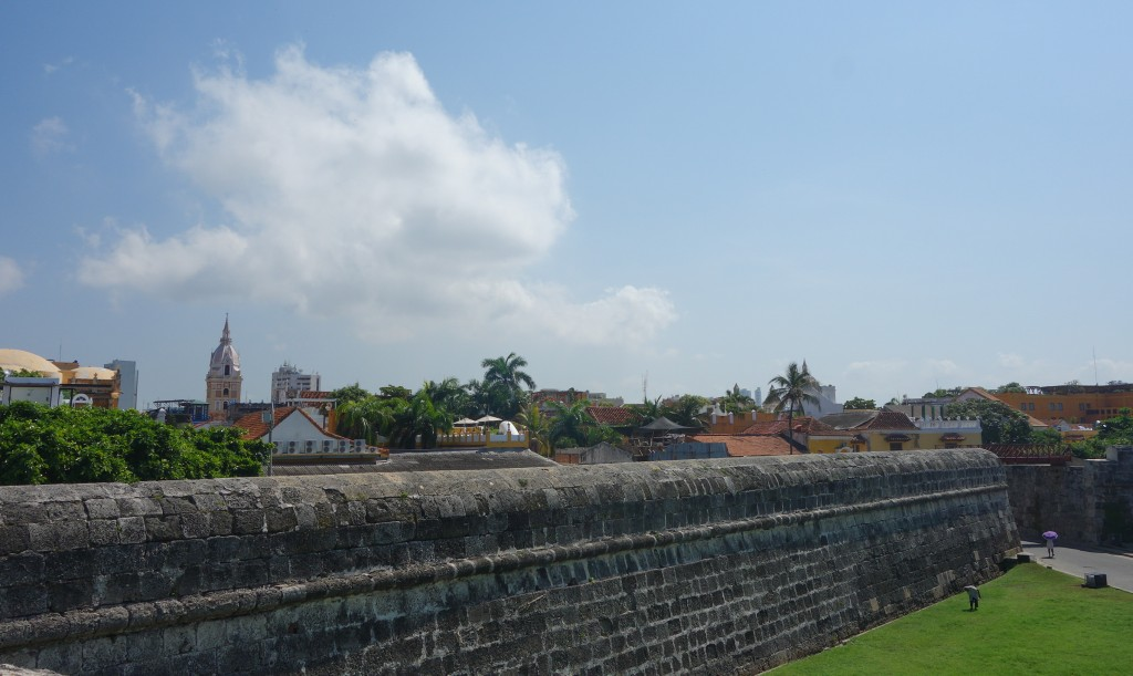Les mures de la citadelle de Carthagène, voyage en Colombie
