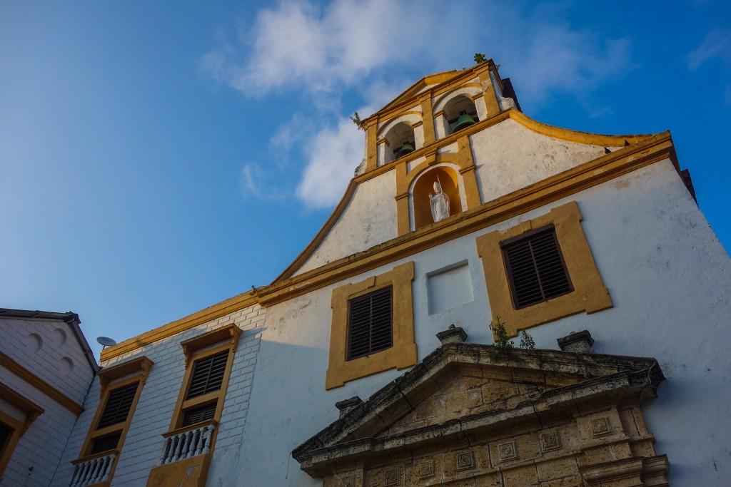 Carthagène des Indes, voyage en Colombie, Eglise San Roque dans le quartier Getsimani à Cartagena