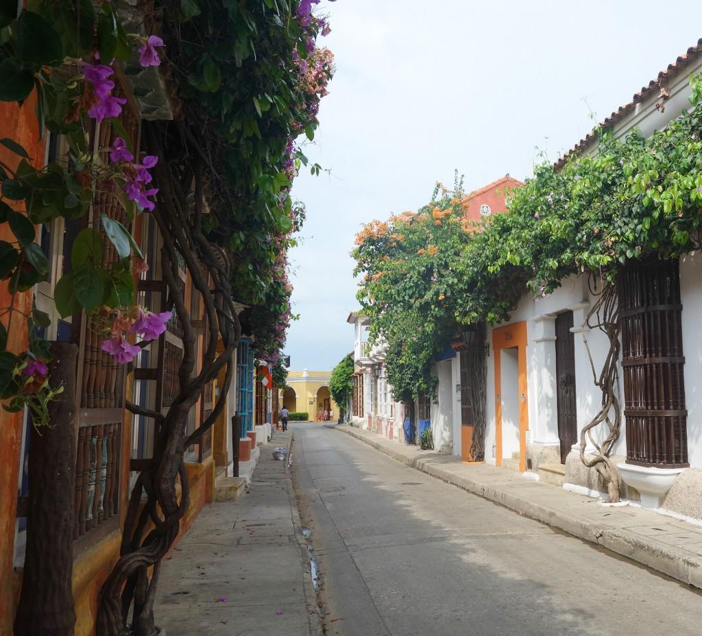 Rue colorée de Carthagène des Indes, voyage en Colombie, vieux centre de Cartagena