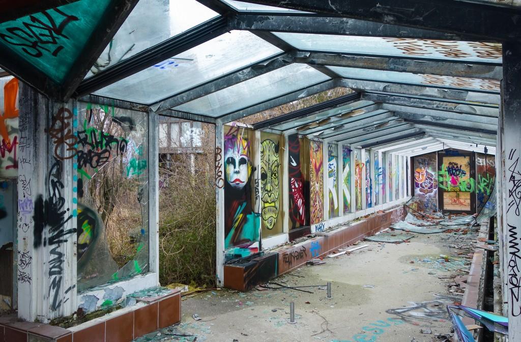 Parc aquatique abandonné Blub à Berlin, exploration urbaine