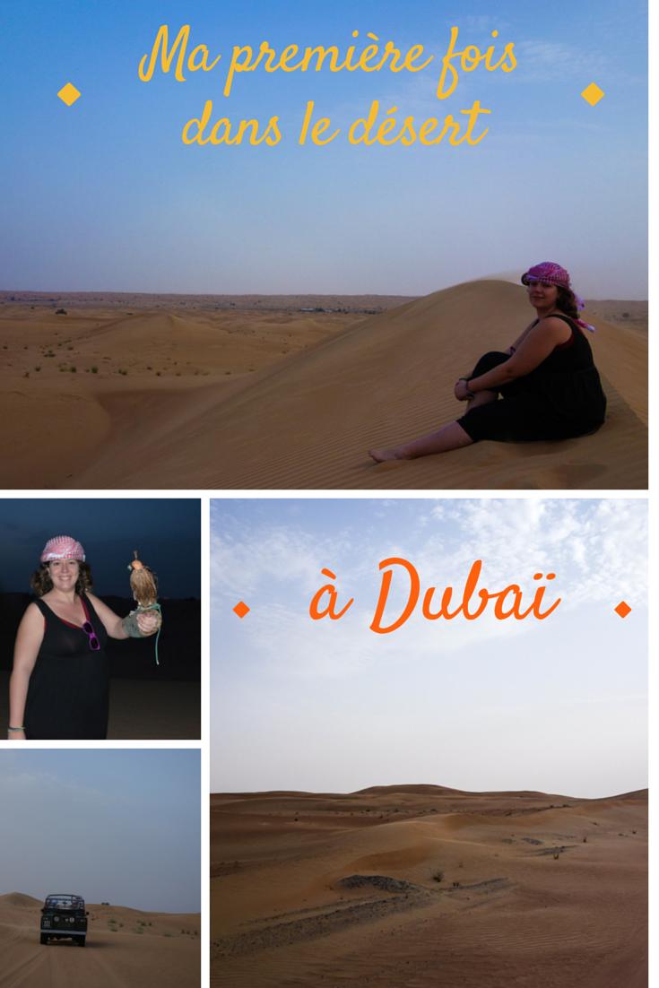 Ma première fois dans le désert à Dubaï
