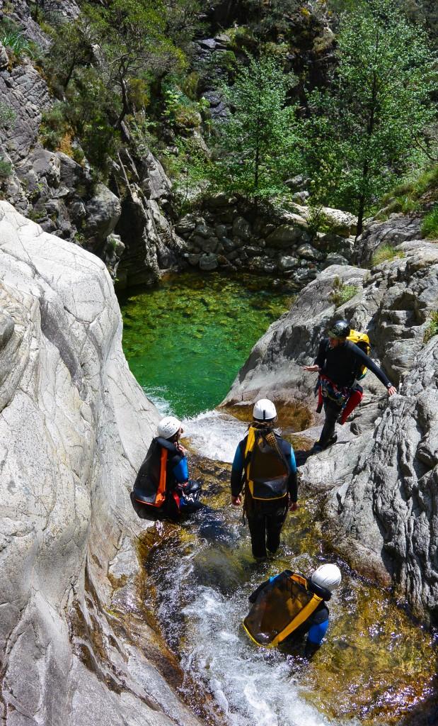 Canyoning corse, canyon de Richjiusa