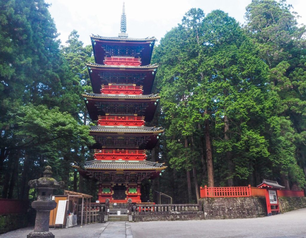 Arrivée dans le complexe de temples et sanctuaires à Nikko