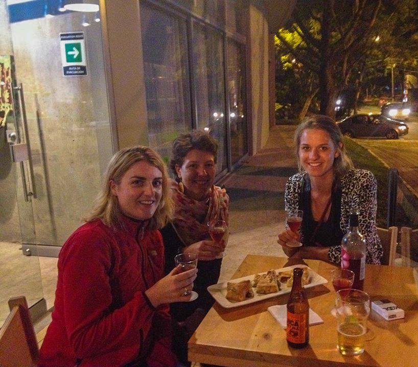 Norma, Renée et Lucie à Medellin