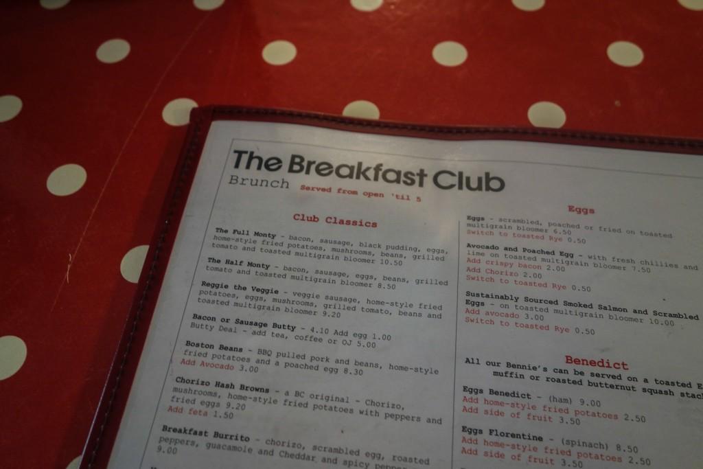 Londres pas cher et sans se priver, Voyages et Vagabondages, The Breakfast Club