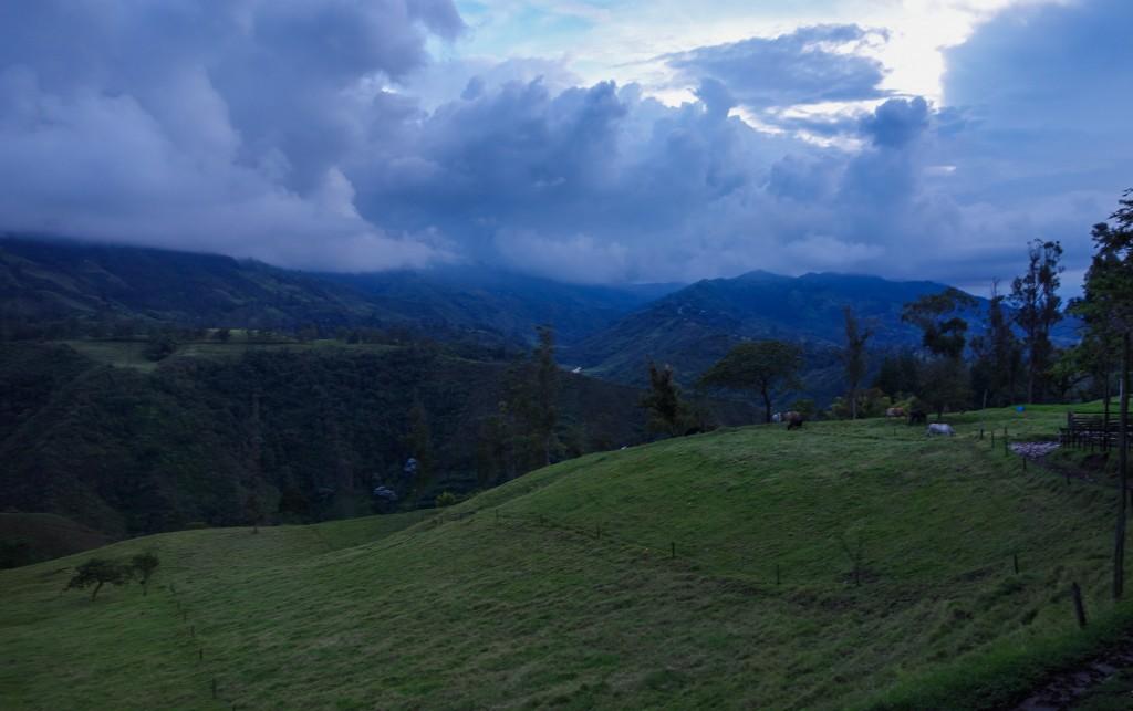 Salento, voyage en Colombie, la vue de puis La Serrana