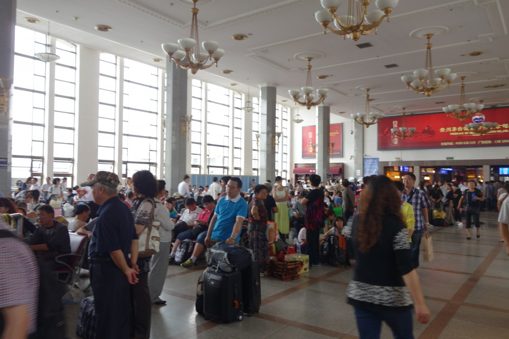 En gare de Beijing, Chine