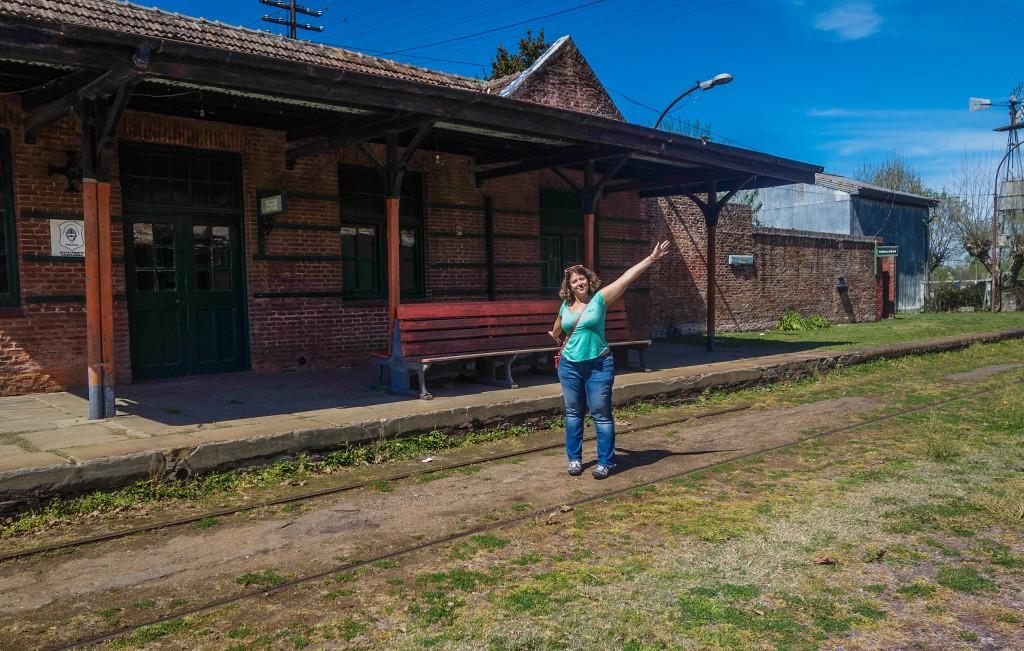 Gare abandonnée d'Uribelarrea dans la Pampa argentine