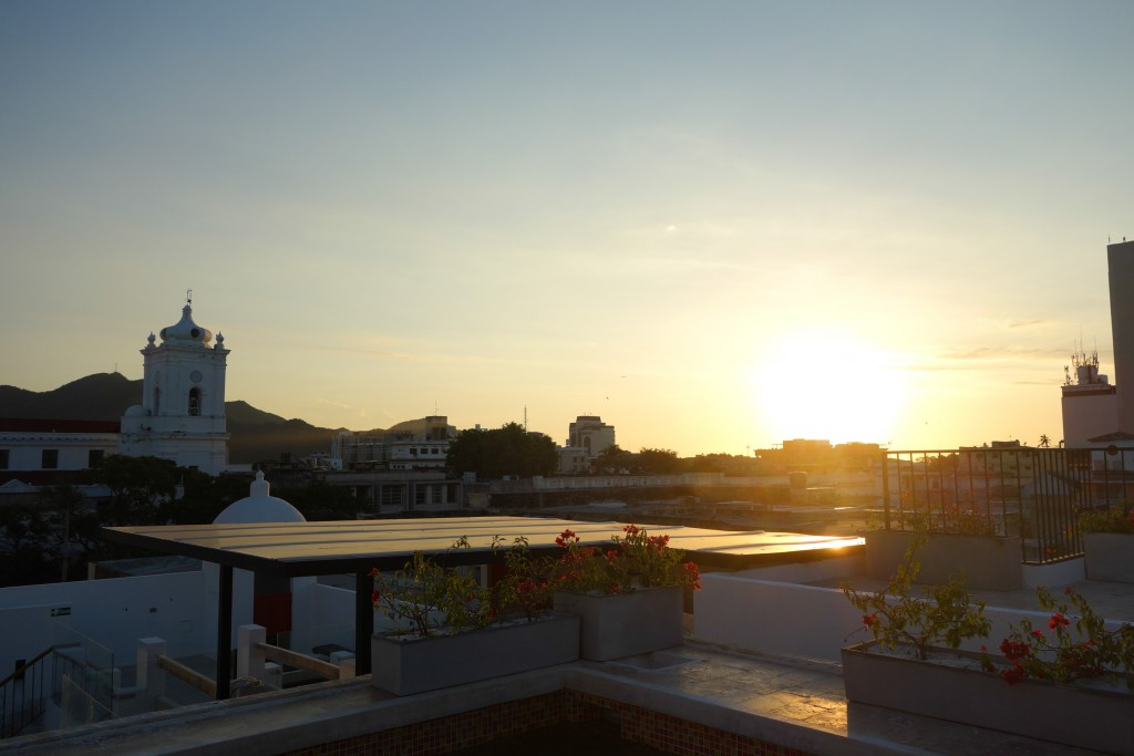 Coucher de soleil à Santa Marta, Colombie