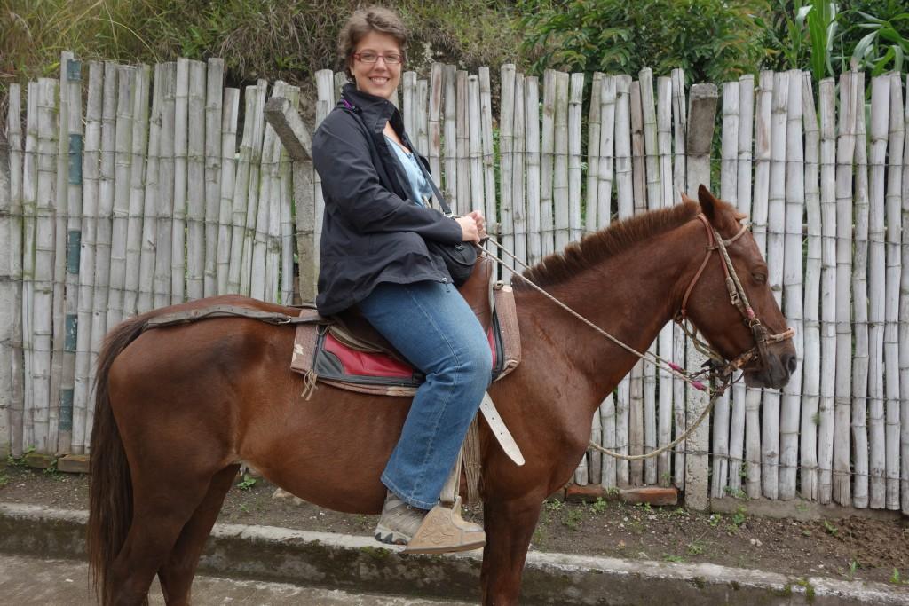 San Agustin à cheval