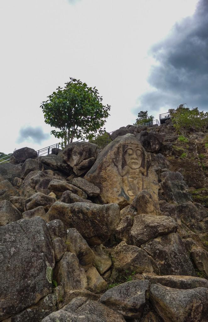 Ma première statue précolombienne à San Agustin