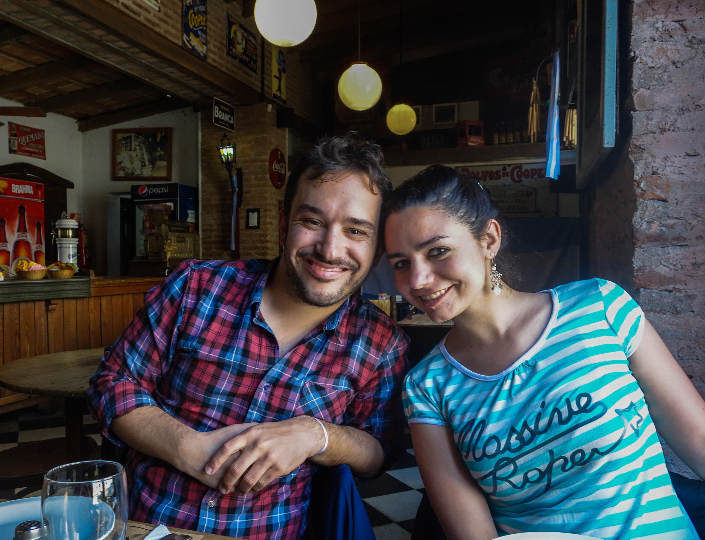 Solange et Luis à San Antonio de Areco