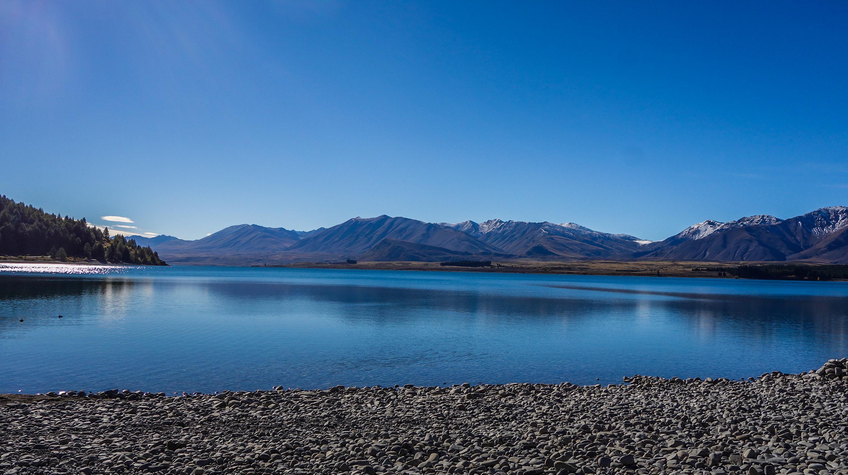 Le Lac Tekapo en Nouvelle-Zélande