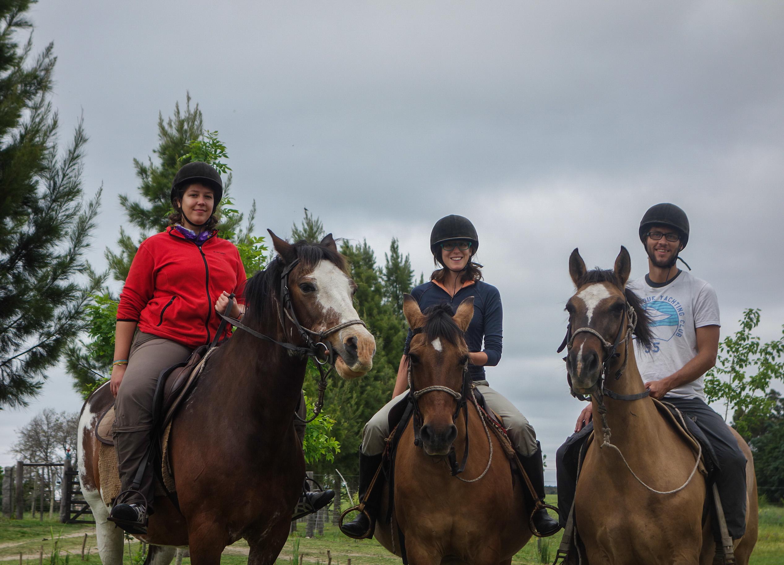 Equitation synchronisée en Uruguay