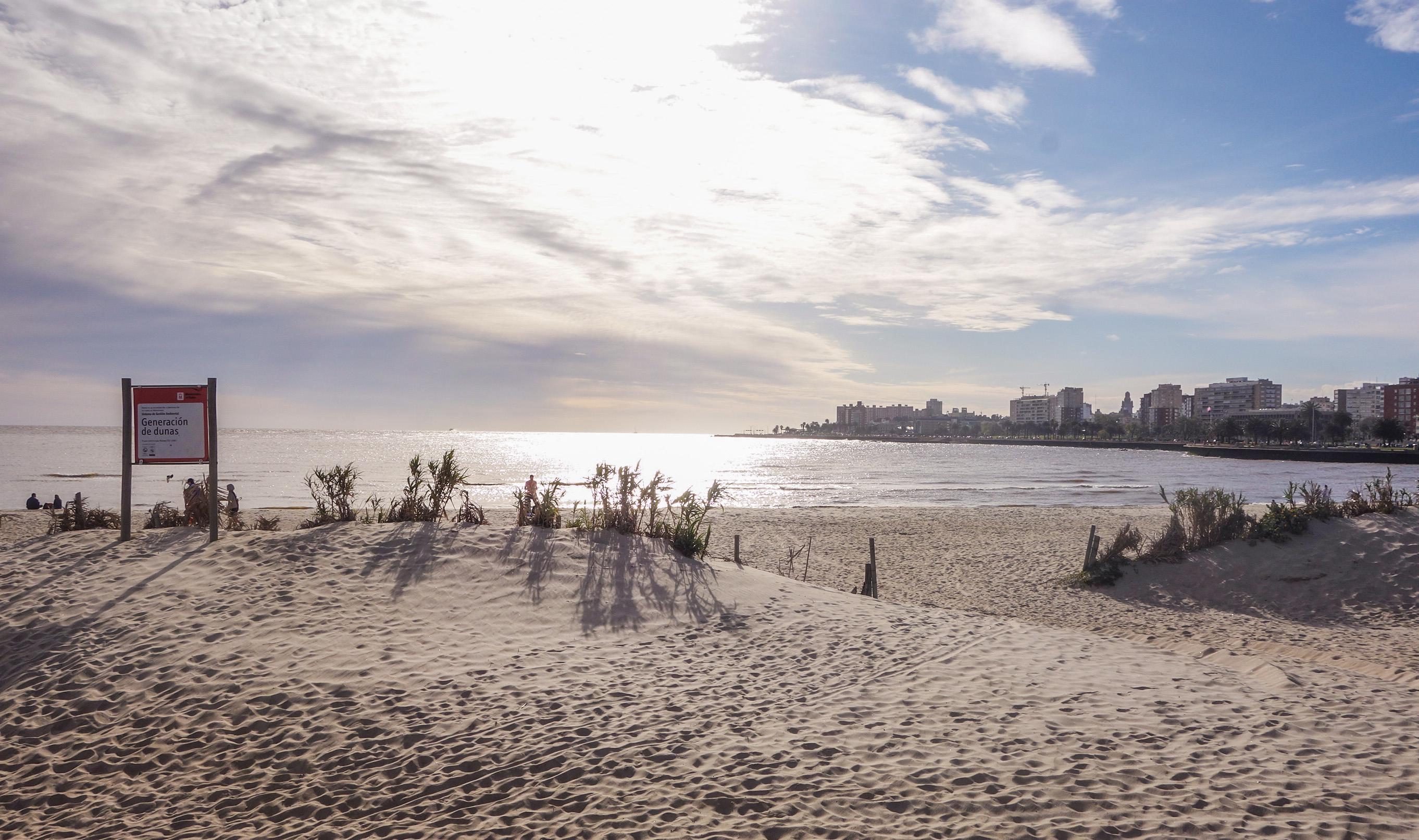 La plage à Montevideo