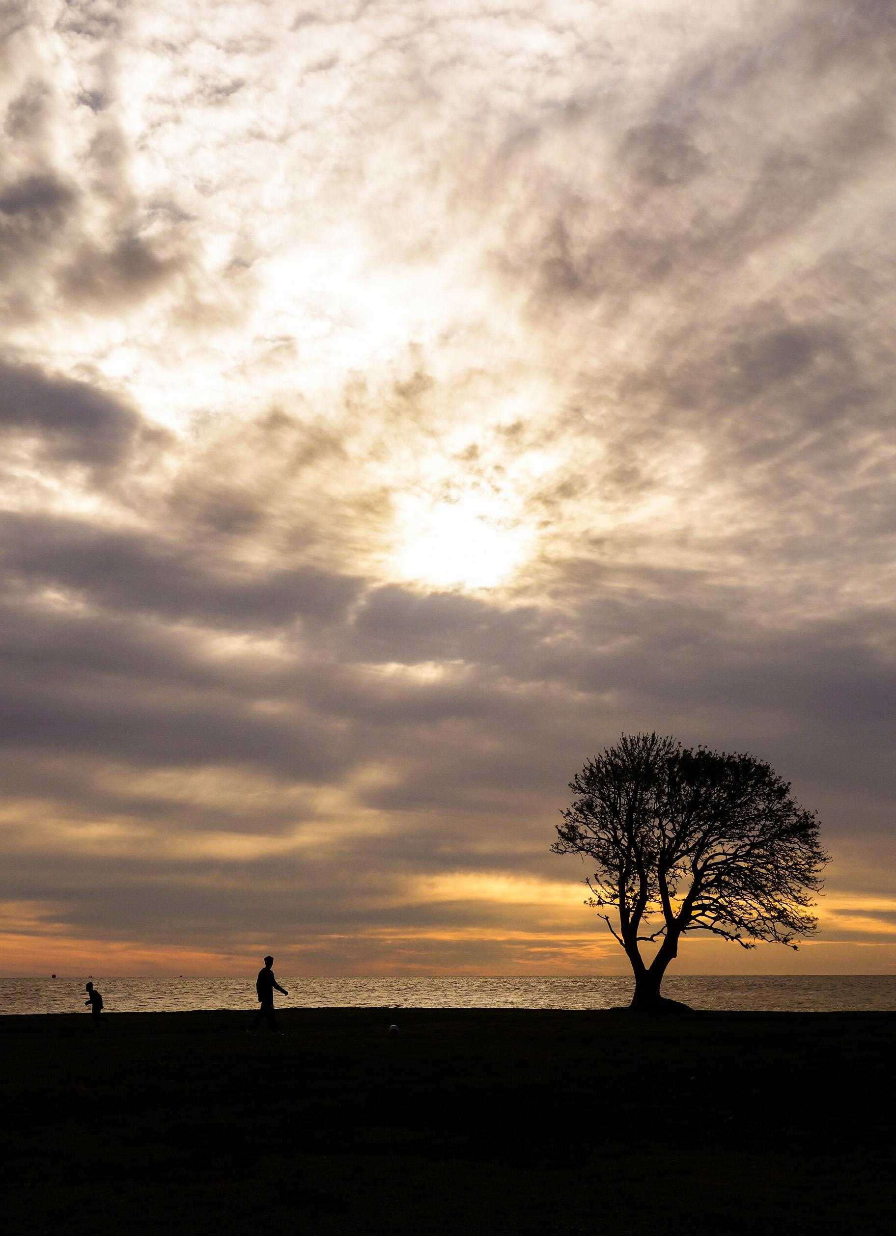 Couchr de soleil sur Las Ramblas, Montevideo