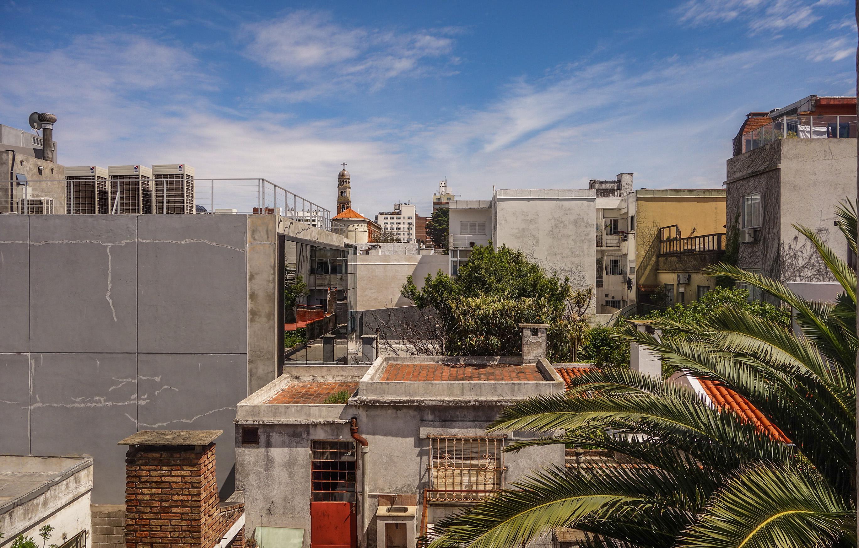 La vue depuis mon Airbnb à Montevideo