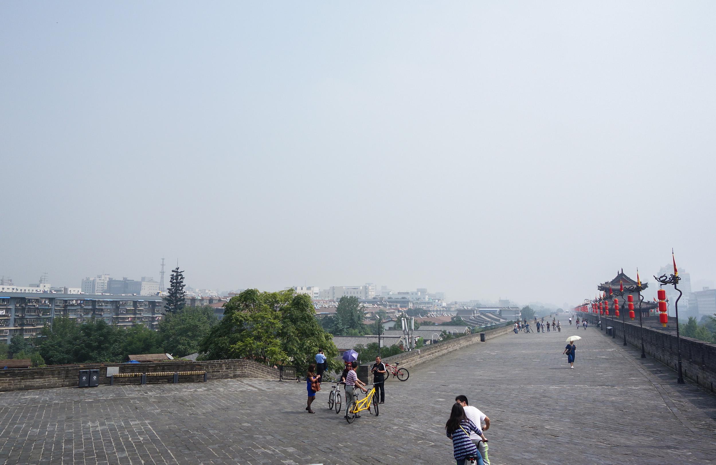 Sur les murs de Xian