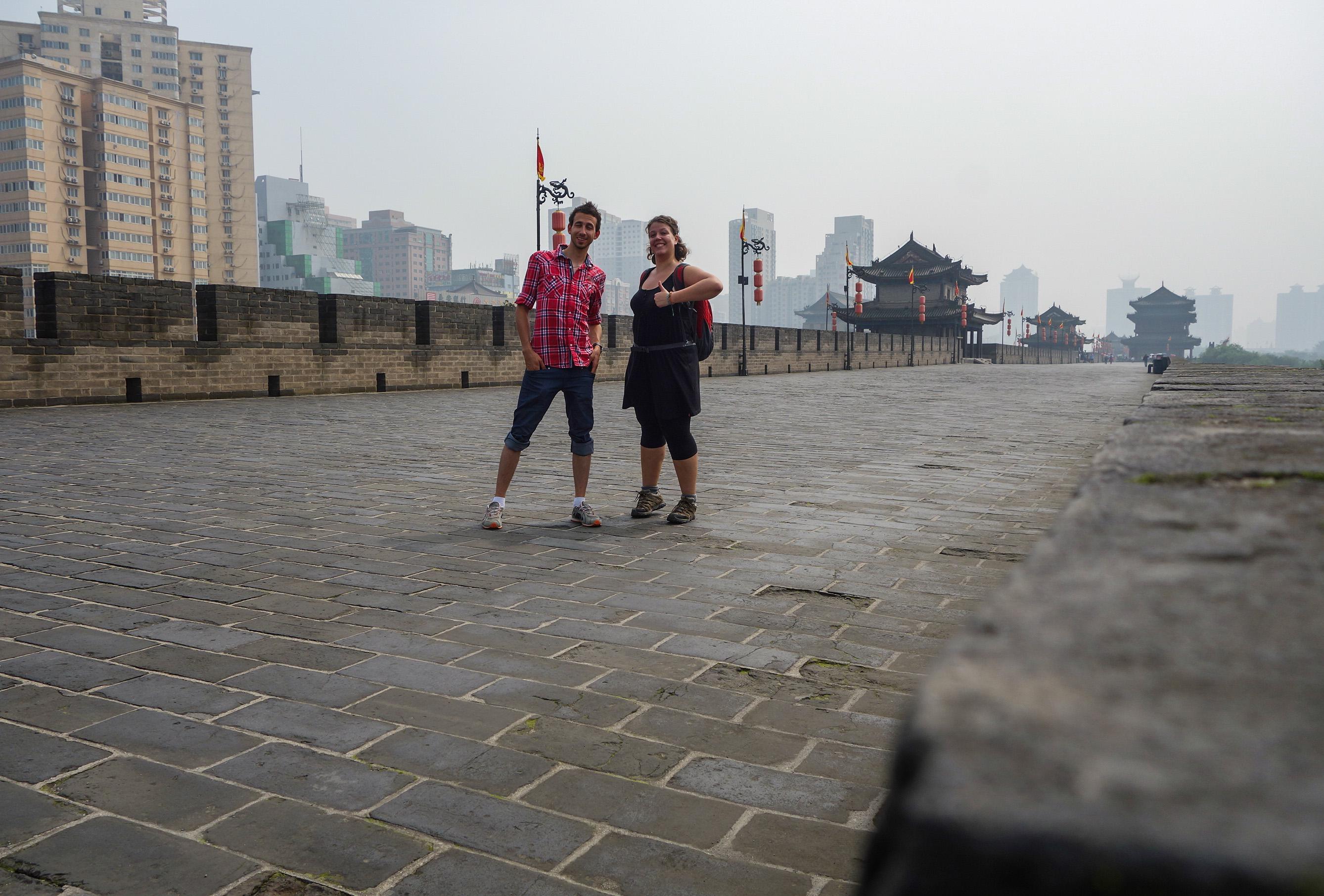 Avec Yannick en Chine