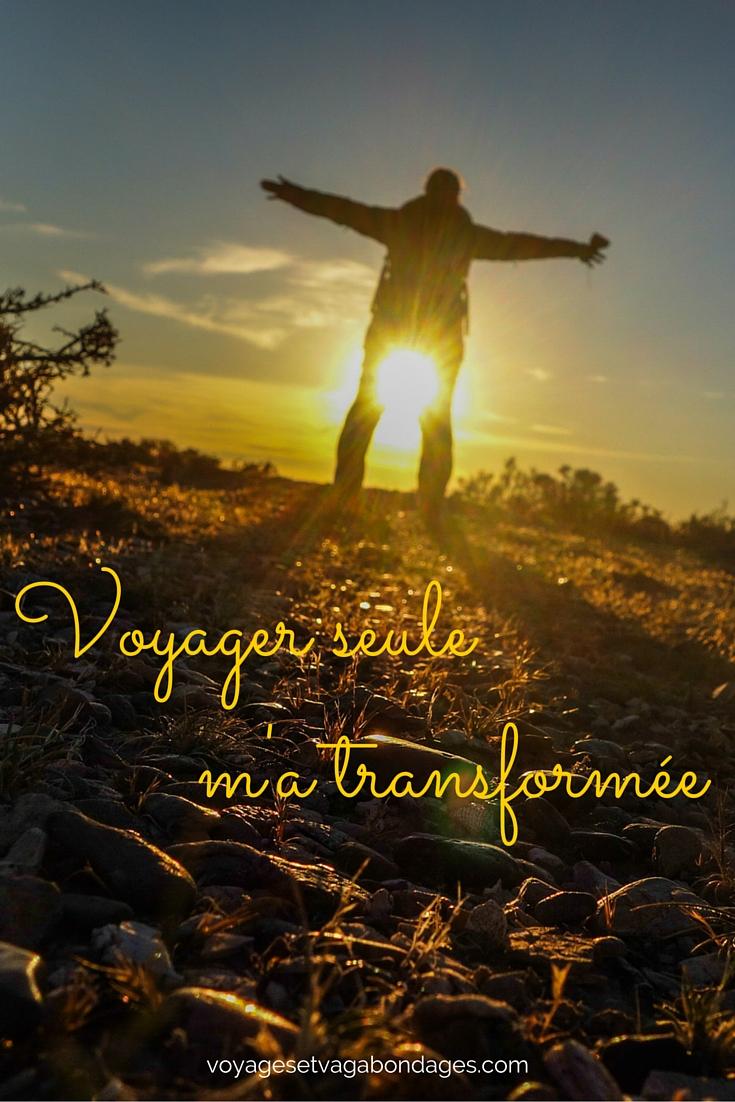 Voyager seule transforme!